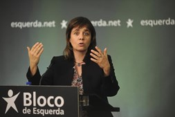 A coordenadora do Bloco de Esquerda, Catarina Martins