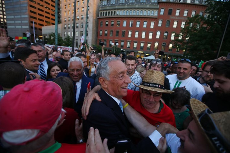 Marcelo Rebelo de Sousa e António Costa em Boston